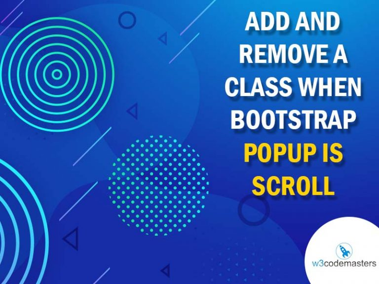 add and remove class when popup is scroll