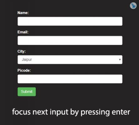 focus next input by enter key