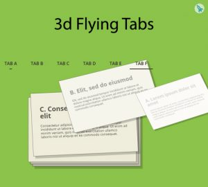 3d Flying Tabs