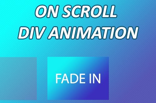 on scroll animation