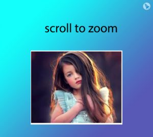 scroll to zoom