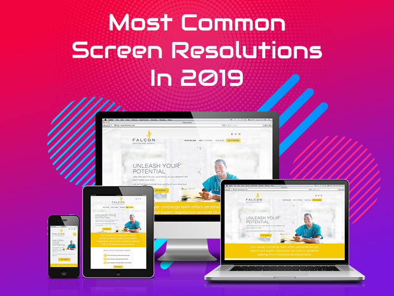 Most common screen resolutions in 2019