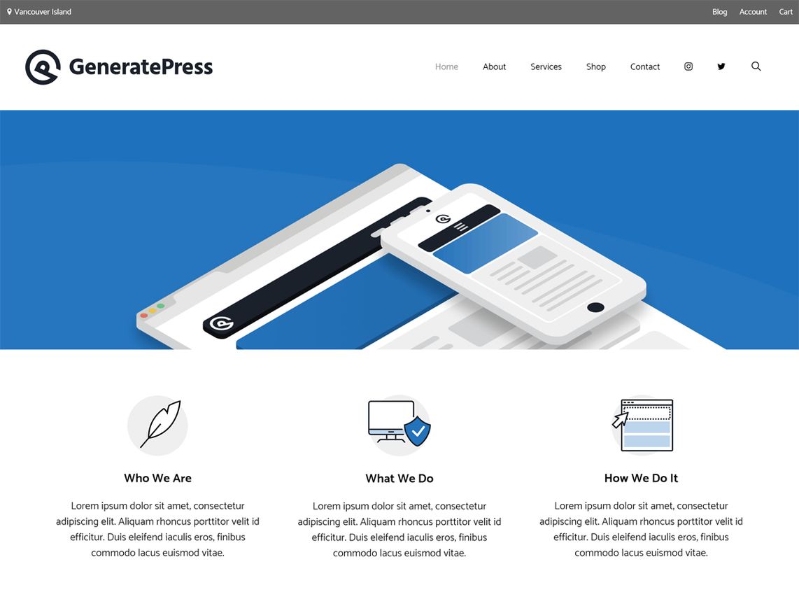 low size theme generatepress