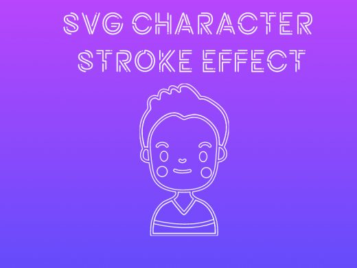 svg character stroke effect