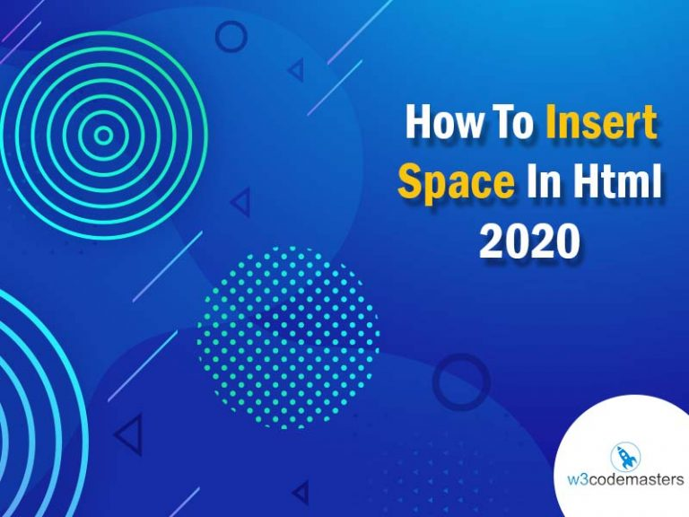 insert space in html