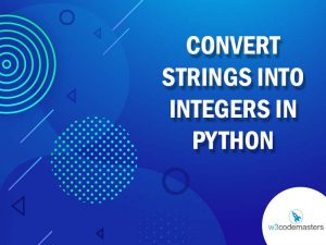 Convert Strings into Integers in Python