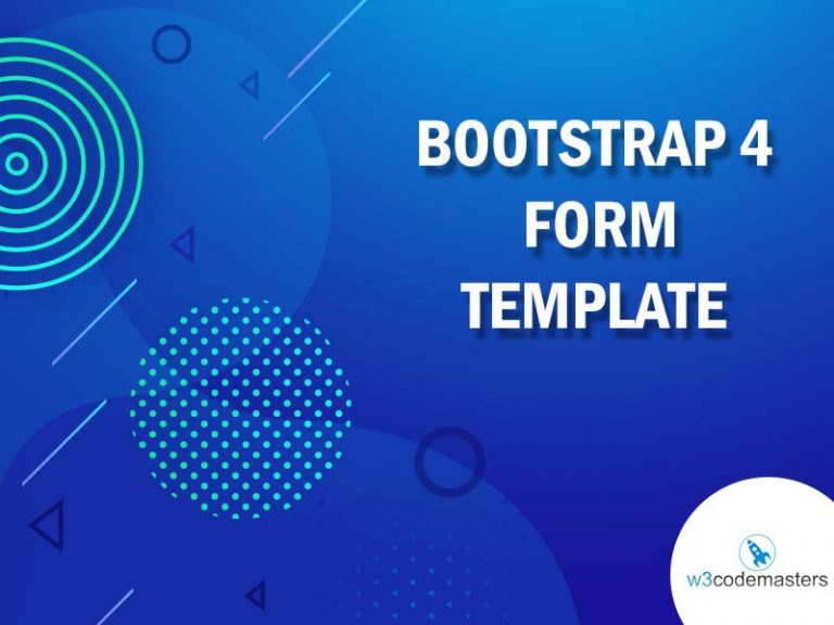 bootstrap 4 form template