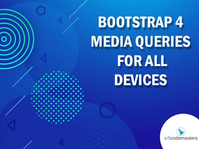 bootstrap 4 media queries for all devices