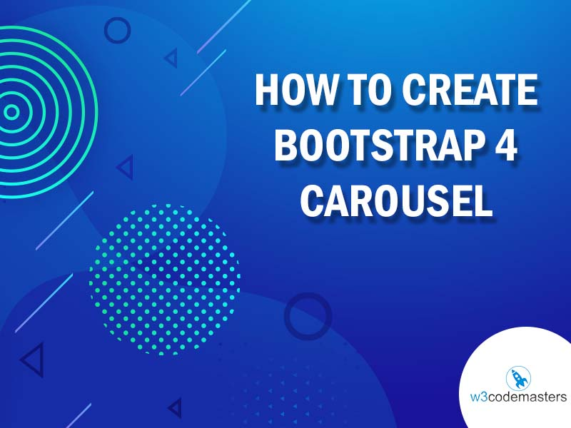 how to create Bootstrap 4 Carousel