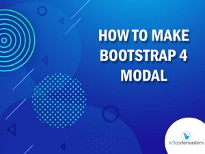 how to make bootstrap 4 modal
