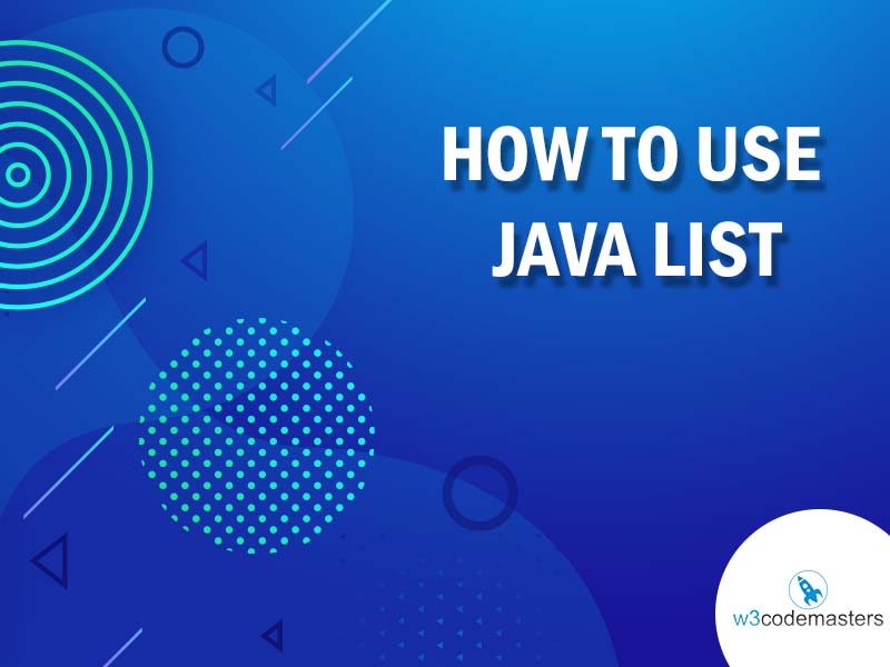 how to use java list