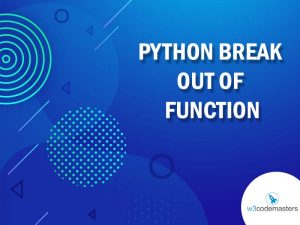 python break out of function