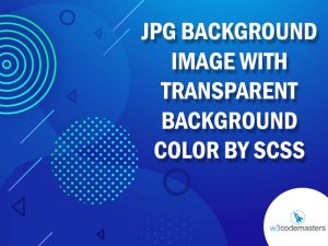 JPG background image with transparent background color by scss