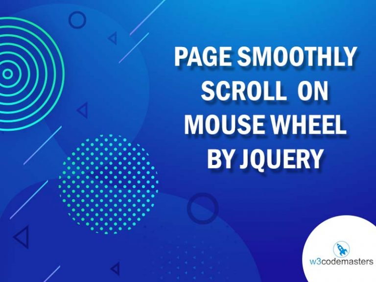 Page smoothly Scroll On Mouse Wheel By Jquery