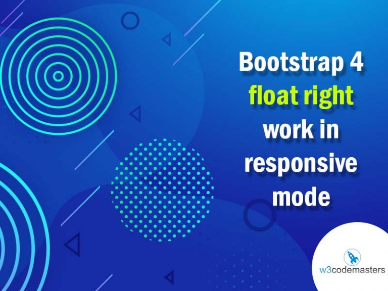 bootstrap 4 float right