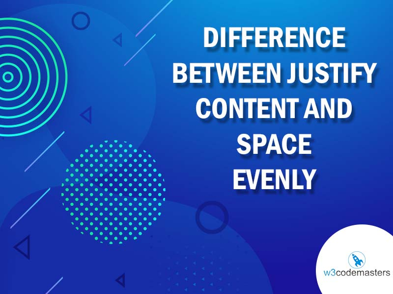 difference between justify content and space evenly