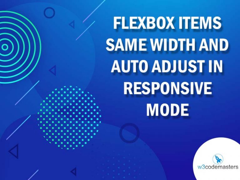 flexbox items same width and auto adjust in responsive mode