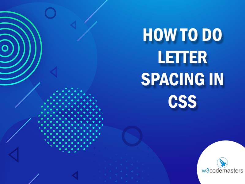 how to do letter spacing in css