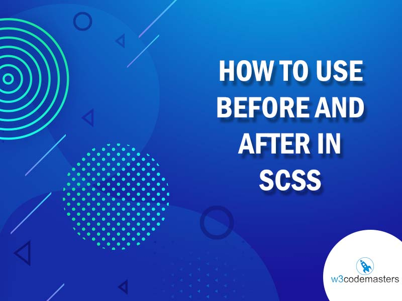 how to use before and after in Scss