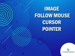 image follow mouse cursor pointer