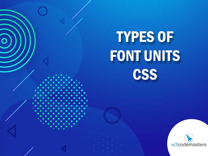 types of font units css