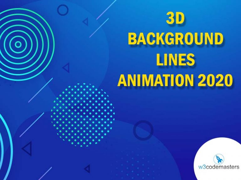 3d Background Lines Animation 2020