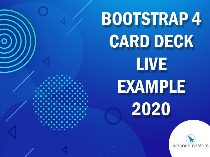 Bootstrap 4 Card Deck
