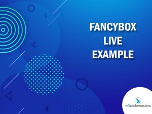 Fancybox Live Example