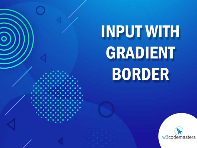 Input With Gradient Border