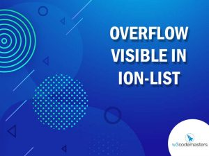 Overflow Visible In Ion-list