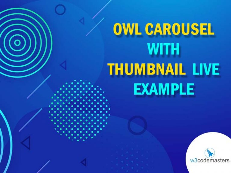 owl carousel with thumbnail