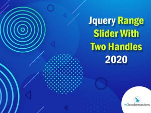 Jquery Range Slider With Two Handles