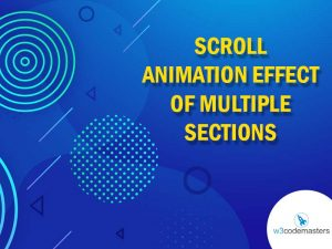 Scroll Animation Effect Of Multiple Sections