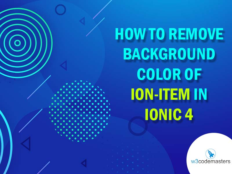 background color of ion item ionic 4