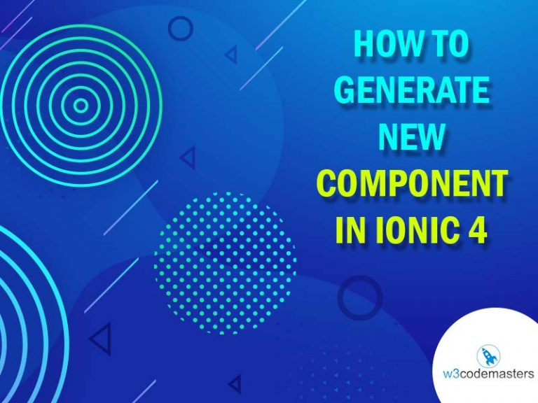 component in ionic 4