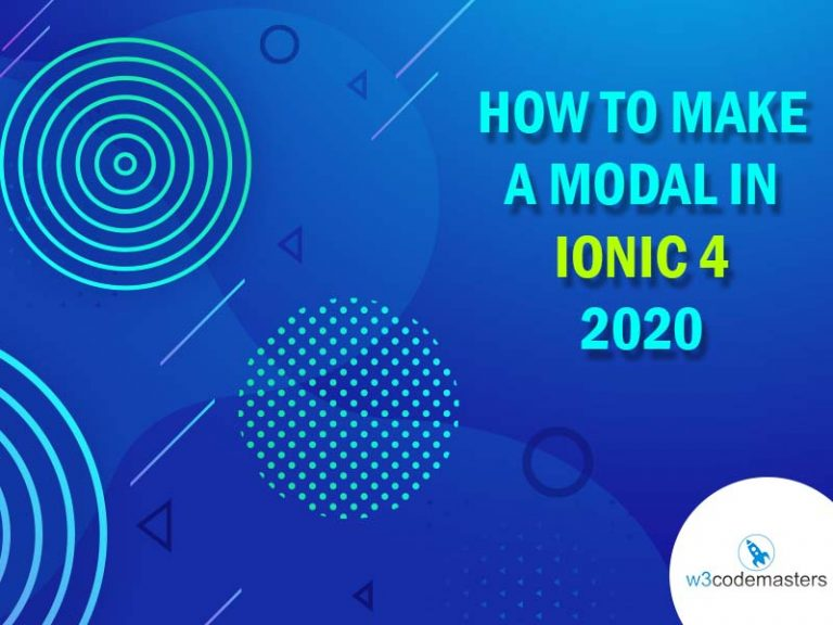 how to make modal in ionic 4