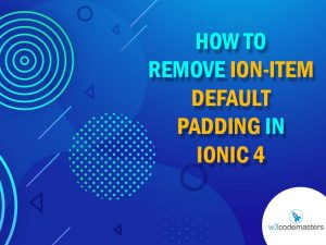 ion item default padding in ionic 4