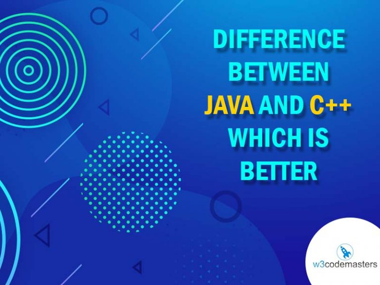 difference between in java and c++