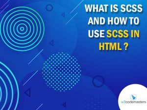 scss in html