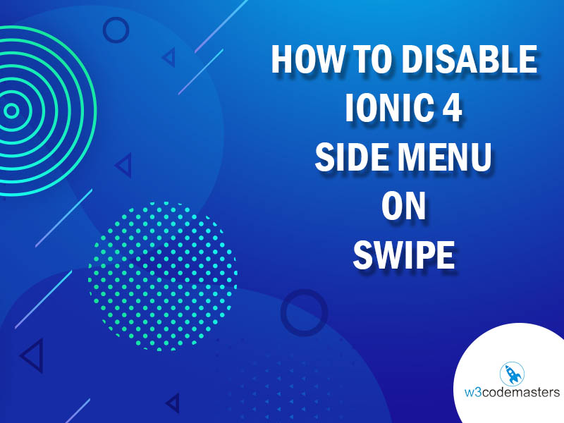 How To Disable Ionic 4 Side Menu On Swipe