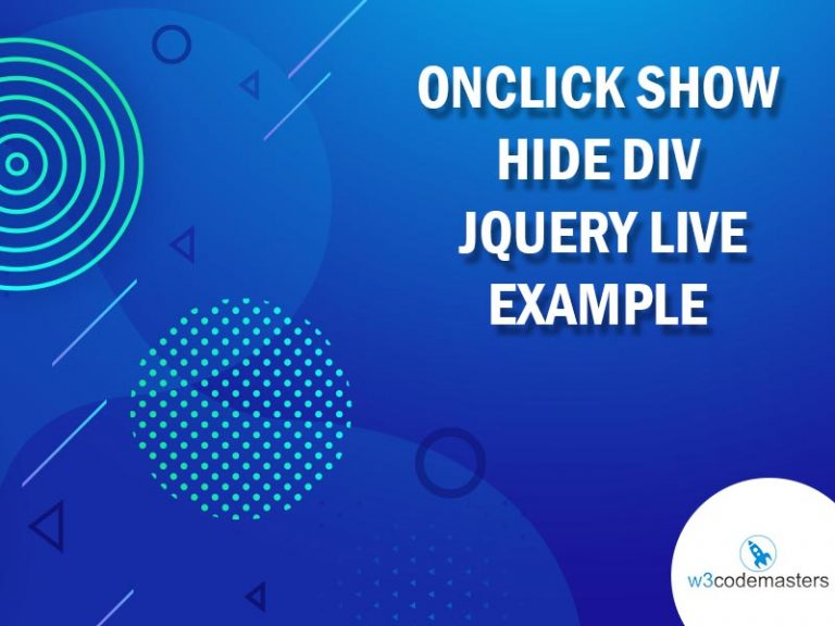 OnClick Show Hide Div Jquery Live Example