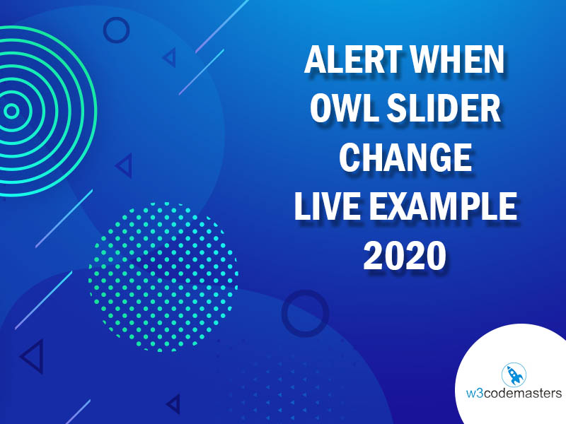 Alert When Owl Slider Change