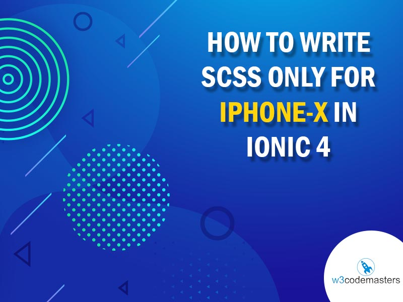 How To Write Scss Only For IphoneX In Ionic 4