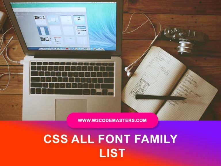 css font family