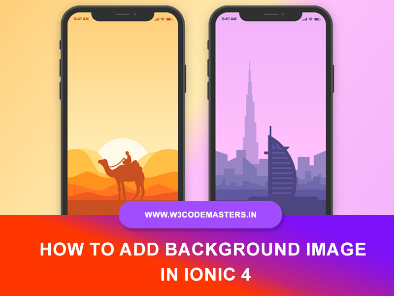 How To Add Background Image In Ionic 4