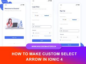How To Make Custom Select Arrow In Ionic 4